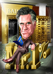 Mitt Romney, Mr. 1% - Cartoon