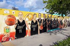 Miami - Edgewater: Serge's Miami Hear mural (wallyg) Tags: streetart basketball mural florida miami heat nba edgewater serge miamiheat lebronjames erge dwaynewade jamesjones chrisbosh jamaalmagloire miamidadecounty zydrunasilgauskas juwanhoward mariochalmers midtownmiami sergetoussaint ergetoussaint