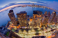 The West Side Highway, Battery Park City, The Hudson, and Jersey City (RBudhu) Tags: newyorkcity skyline jerseycity dusk hudsonriver gothamist bluehour statueofliberty batteryparkcity