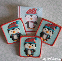 Penguins! (Songbird Sweets) Tags: penguins sugarcookies songbirdsweets