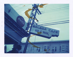 Balboa Cafe (philippe*) Tags: street urban usa sign polaroid roadtrip 350 cfe iduv