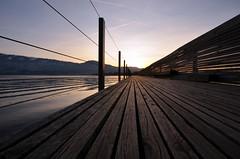 once upon a time (goerdie_l. on the slow photo road) Tags: bridge night schweiz switzerland dusk rapperswil zrichsee lakeofzurich woodenbrigde cantonofschwyz pilgrimspathway