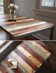 The Re|Surface Table (MagneticGrain) Tags: vintage table modular patchwork reclaimedwood repurposedmaterials ecofurniture salvagedwood craftfurniture