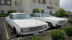 64 & 65 Imperial Crown Coupes (DVS1mn) Tags: auto white cars hardtop car minnesota four big body head five large 64 vehicles american imperial crown chrysler mopar mn luxury coupe blackbeauty v8 wedge mycar sixty nineteen 65 1964 1965 413 landyacht greenhornet wpc chryslerimperial 2door rwd walterpchrysler mopars nineteensixtyfour chryslercorporation kandiyohi persianwhite crowncoupe dbody midwestmopars moparsinthepark imperialcrowncoupe greenhornetsblackbeauty nineteensixtyfive