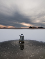 Ice & snow (- David Olsson -) Tags: winter sunset white lake snow cold reflection ice landscape nikon sweden gray hard january karlstad lee 1750 06 grad tamron vnern 2012 vrmland lakescape gnd 1750mm navaid d5000 kanikenset davidolsson kanikenshamnen ginordicjan12