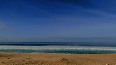 Lagoa de Albufeira | Portugal (Thiago Piu) Tags: trip travel sea sky cloud praia beach portugal water gua mar sand europa europe areia cu viagem nuvem