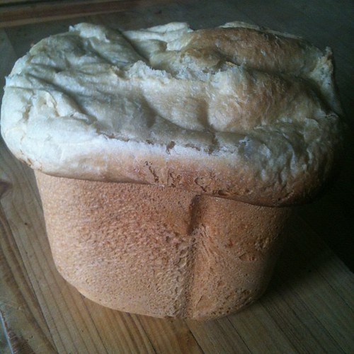 Giant fresh bread for lunch. Yum!!! Wishing some folks around would tidy up really quickly,