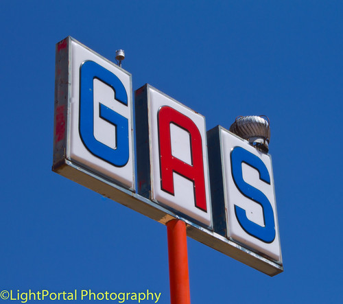 Hot gas on a pole