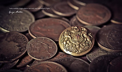 Military Honour {Explored} (Grace5mith) Tags: old money macro metal closeup canon silver army gold iron coins military explore button 60mm 600d interestingness25 explored i500 250112