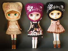 Felted Hats for Tna09 (Leshan1) Tags: hat crochet blythe leshan feltedhat dolldress blythecrochet leshancrochet