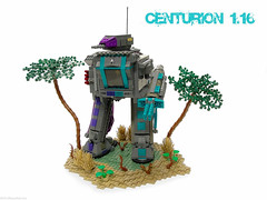 Centurion 1-16 (Blake's Baericks) Tags: terrain feet fly lego hard machine suit guns blake turret mecha mech baer hardsuit apoca apocalego