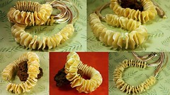 ruffled (Conversations in Clay) Tags: beads handmade jewelry polymerclay bracelet neklace