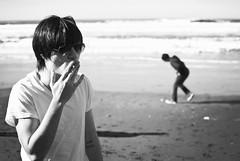 (rafael-castillo) Tags: ocean sf sanfrancisco blackandwhite bw pacific cigarette thecity smoking bayarea oceanbeach westcoast sunsetdistrict thesco