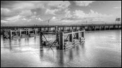 (peters2011) Tags: old city sea sky urban sun white abstract black reflection building art texture scale nature water monochrome lines stone wales architecture clouds speed marina river lens concrete outside photography bay fantastic arch colours photos harbour curves perspective cardiff dramatic structure line sharp photograph balck shutter about ripples washed framing milky hdr anything peir invited