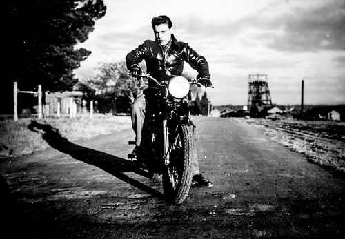 Biker dad. South Africa. Undated. Probably 1954