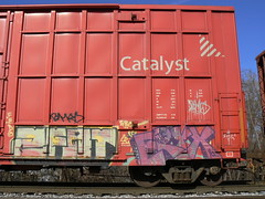 eryx and 2fat (httpill) Tags: streetart art train graffiti graf railcar boxcar railways freight eryx moniker benching freighttraingraffiti 2fat httpill