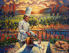 In the Vineyard (Exclusive Collections Gallery) Tags: food art artist wine sandiego originalart fineart artshow culinary oilpainting foodie chefs christopherm ecgallery exclusivecollections painterofchefs