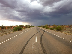 roxby road (j-ster) Tags: storm rain weather downs sand dune marks 2012 skid roxby