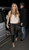 Katie Price aka Jordan arriving at Balans restaurant in Soho, with her ex boyfriend Leandro Penna. London, England