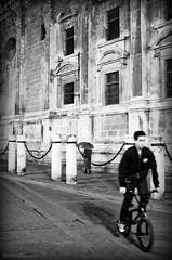 Umbrella (Jordan | Photo) Tags: street blackandwhite bw espaa blanco umbrella calle sevilla spain nikon negro streetphotography bicicleta seville jordan paraguas bycicle d7000