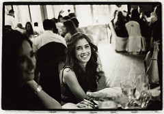Girl at table - Edward Olive destination wedding photographer in Spain Madrid Ibiza Mallorca Malaga Barcelona