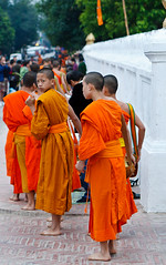 Luang Prabang,  Laos (Phil Marion) Tags: travel vacation hot sexy beach beautiful beauty sex canon river naked nude temple phil robe buddha candid monk buddhism marion mount monks riverboat longboat laos wat chubby buddhisttemple mekong phat luangprabang saffron luang prabang alms novice buddhistmonk mekongriver nubile phousi saffronrobe 5photosaday explored takbak buddhistwat  philmarion buddhistnovicemonk