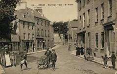 St. Aubin, Jersey, Channel Islands (Aussie~mobs) Tags: staubin jersey channelislands vintage streetscene streetscape boys children montlesvaux aussiemobs