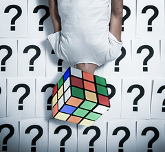 ??? (Valerio Loi) Tags: light portrait white color colour smart wall shirt self neck paper panel arm body head mark being room flash brain read puzzle intelligence human mind cube sheet jigsaw trick doubt clever rubik qestion