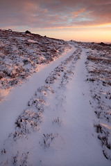 Untrodden Ground (rgarrigus) Tags: road morning winter england snow cold sunrise landscape yorkshire trail nidderdale tse pateleybridge glasshouses greatphotographers untrodden garrigus robertgarrigus robertgarrigusphotography highcragsridge