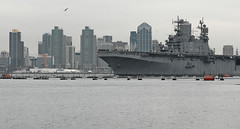 USS Peleliu the  transits San Diego Bay. (Official U.S. Navy Imagery) Tags: unitedstates sandiego navy calif usspeleliu lha5 npasewest wwwfacebookcomusnavy