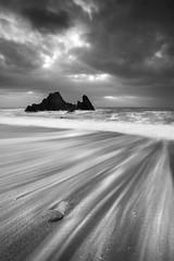 (@Gking_photo) Tags: sea sky blackandwhite seascape beach water monochrome clouds landscape photography mono coast seaside sand rocks waves imac tide pebbles coastal coastline
