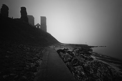For whom the bell tolls (vulture labs) Tags: longexposure 2 blackandwhite bw mist monument monochrome fog silver kent moody towers wideangle monotone monochromatic filter software pro nik atmospheric holder haida reculver daytimelongexposure neutraldensityfilter efex 10stop d700 nikond700 1424mm prostop formatthitech lucroit irnd vision:mountain=0915 vision:sky=0931 vision:clouds=0765