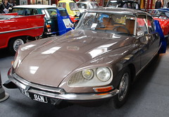 Citroen DS (Sam Tait) Tags: england brown lake classic cars museum vintage district citroen ds retro motor lakeland barge 2014
