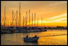 Sunset over Scarborough Marina_02=