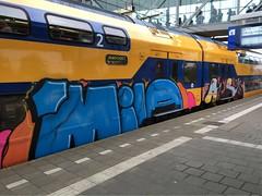 In traffic (Pictures? stuurjetroepnaarmij@yahoo.nl) Tags: graffiti trainart paintedtrain intraffic