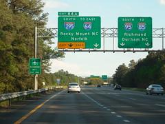 I 95-295 Signs (jimmywayne) Tags: sign virginia durham norfolk richmond 64 interstate 95 85 rockymount 295