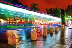 Echo night tram. (romanasafoff1) Tags: leica red black rain night photo cool moscow echo like tram follow hd myphoto liked