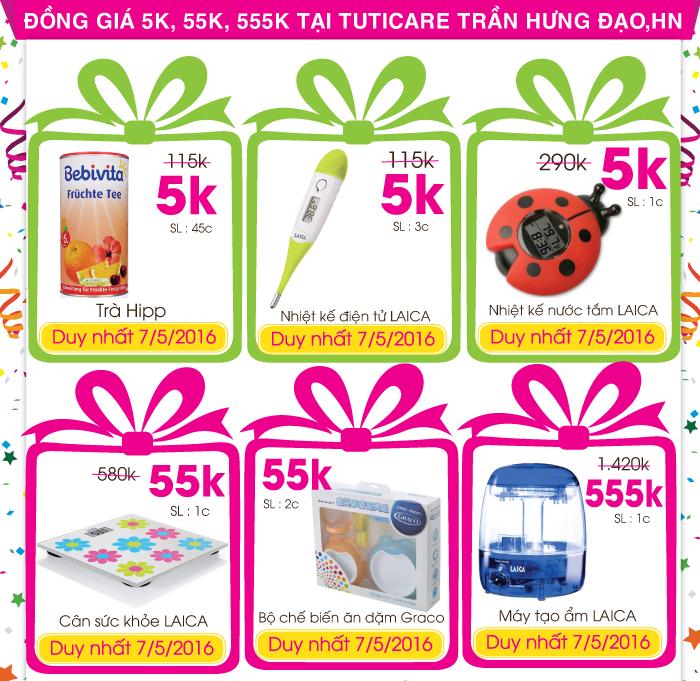 Đại tiệc mừng sinh nhật TutiCare 5 tuổi - Tiết kiệm tới 90% (7/5 - 10/5)
