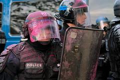 pink police (Kirmatic) Tags: pink paris ex police sigma demonstration f28 60 manifestation crs dn nex6
