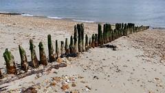 Calshot Groynes (CloudySkiesUK) Tags: sea castle beach landscape hampshire solent groyne groynes calshot