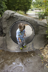 """""""A big puddle!"""" (quinn.anya) Tags: puddle zoo toddler sam pointing"""