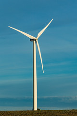 Wind Turbine (JustinMullenPhotography) Tags: world blue wallpaper sky sun white green nature beautiful beauty grass clouds vintage outdoors solar washington energy power wind hiking earth farm background central adventure planet eastern turbine ellensburg