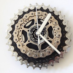 Recycled Cassette Clock (ReCycle And BiCycle) Tags: recycled gear mtb fixed fixie fixedgear recycleandbicycle