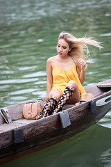 Street Photo  - Unknown (Gigin - NoDigital) Tags: people woman nature water colors yellow boat asia ship objects an vietnam hoian transportation geography hoi vn qungnam tphian