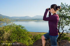 Spotted something! (ChrMous) Tags: winter people lake landscape southafrica meer view uitzicht landschap mensen 2016 minoltaaf20mmf28 pilanesbergnp sonyslta77 sonyflashf60m