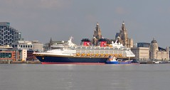 Disney Magic (Kay Bea Chisholm) Tags: liverpool waterfront disney threegraces cruiseship mooring pierhead oiltanker disneymagic liverbuilding firstvisit rivermersey portofliverpoolbuilding cunardbuilding seacombeferry merseyspirit may2016