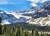Bow Lake & Crowfoot Glacier, Banff National Park, Alberta, Canada - ICE(5)412-413 (photos by Bob V) Tags: panorama mountains rockies alberta banff rockymountains mountainlake albertacanada banffnationalpark bowlake canadianrockies crowfootglacier banffpark mountainpanorama