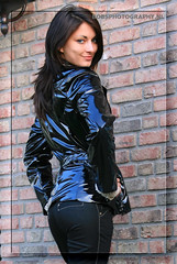 001 Shiny black latex jacket
