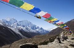 Postcard shot (ddkang81) Tags: nepal mountains trekking landscape hiking postcard prayerflags himalaya everest 2011 pheriche everestbasecamp acclimatisation