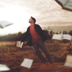take off with a good book. - VOTE :D (Casey David) Tags: old blue trees boy sunset red orange cloud sun motion tree guy feet field yellow clouds forest foot reading book fly flying day glow mud reader wind cloudy pages hawk bare country grain salmon floating levitation windy books days lookingup read jacket barefoot flies fauxhawk faux barefeet glowing 365 float blazer fables fable fluttering flutter oldbooks levitate aesopsfables offtheground aesops project365 365days flyingboy takeoffwithagoodbook